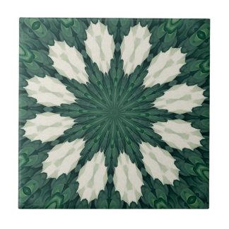 Mandala. da folha verde e de prata de Sacramento