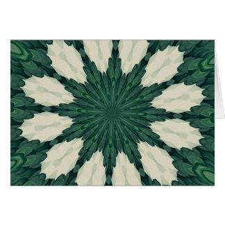 Mandala. da folha verde e de prata de Sacramento Cartão