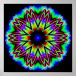 Mandala da galáxia do Sombrero Poster