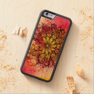 Mandala da integralidade capa de cerejeira bumper para iPhone 6