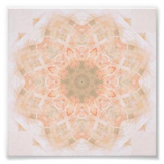 Mandala da laranja do pêssego impressão de foto