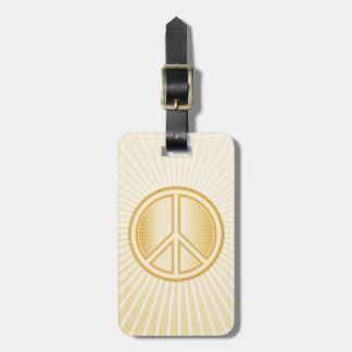 Mandala da paz etiqueta de bagagem