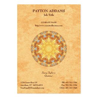 Mandala da renovação - cartão de visita vertical