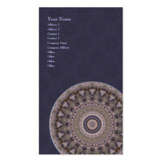 Mandala da sabedoria • Cartão de visita vertical
