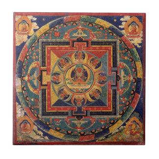 Mandala de Amitayus. Escola tibetana do século XIX