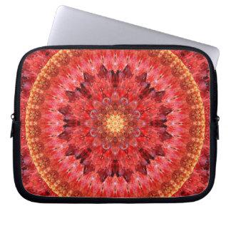 Mandala de cristal do fogo sleeve para laptop