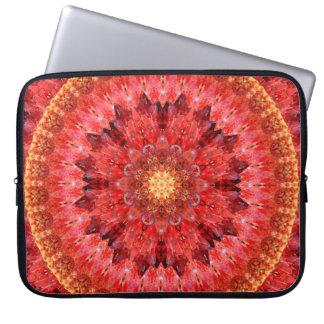 Mandala de cristal do fogo sleeve para notebook