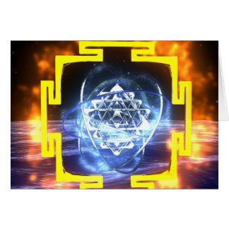 Mandala de Sri Yantra Cartão Comemorativo