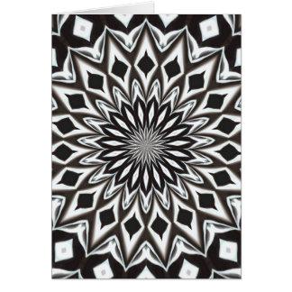 Mandala decorativa preto e branco cartão