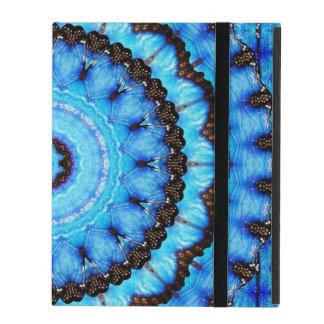 Mandala do azul da borboleta capa iPad