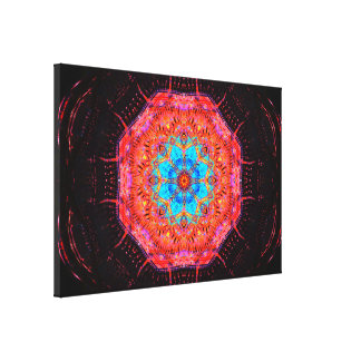 Mandala do chip de computador do quantum impressão em canvas