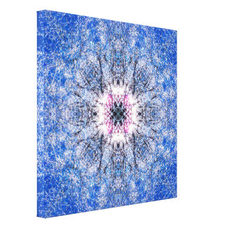 Mandala do inverno impressão em canvas