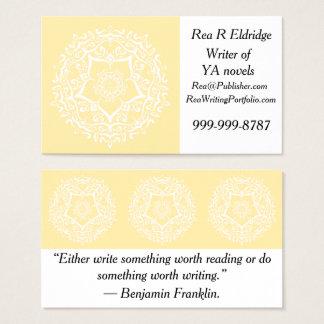 Mandala do pergaminho cartão de visitas