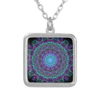 Mandala do significado colar com pendente quadrado