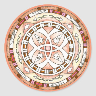 Mandala do sudoeste do nativo americano da adesivo