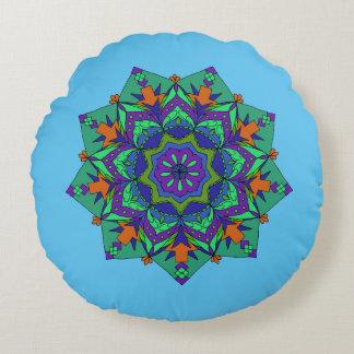 Mandala do travesseiro da ioga da meditação almofada redonda