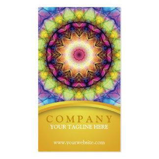Mandala do vidro do arco-íris cartão de visita