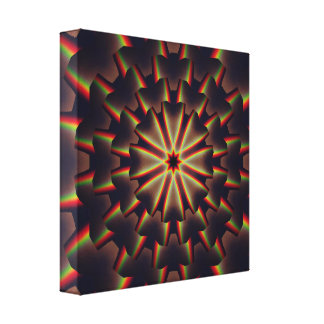 mandala dos arcos-íris 3D