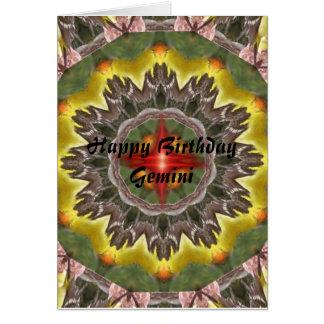 Mandala dos Gêmeos, Gêmeos do feliz aniversario Cartão Comemorativo