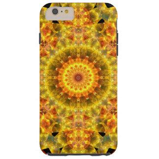 Mandala dourada do fogo capa tough para iPhone 6 plus