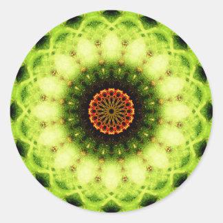 Mandala estrangeira da flor adesivo redondo