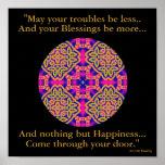 Mandala Kaleidoscopic de A40b - irlandês Blessing. Pôsteres