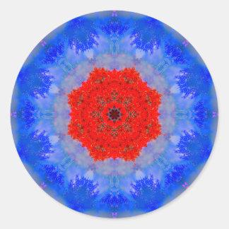 Mandala macia da flor adesivo redondo