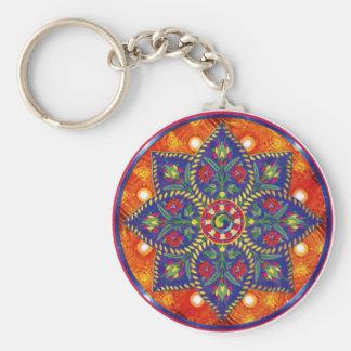 Mandala mágica - chaveiro