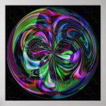 Mandala mágica do bastão - impressão do Fractal