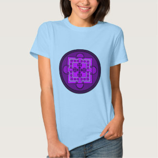 Mandala malva camiseta