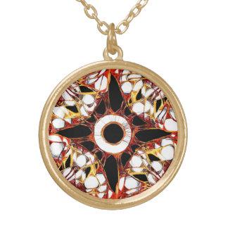 Mandala místico da modificação colar banhado a ouro