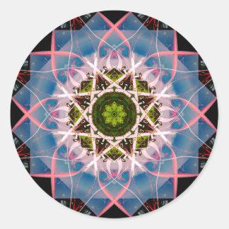 Mandala muito detalhada de Lotus Adesivo Redondo