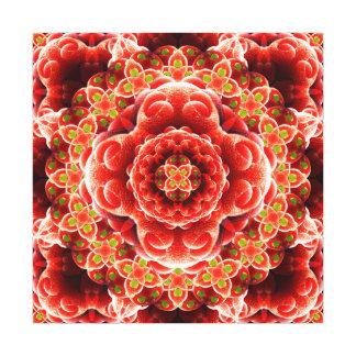 Mandala orgânica da dimensão impressão em tela