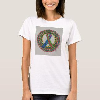 Mandala para o cancro da mama metastático camiseta