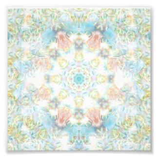 Mandala Pastel da flor Impressão De Foto