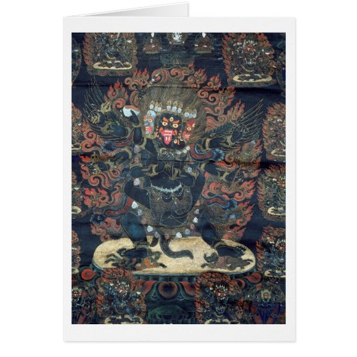 Mandala (pergaminho pintado) cartão