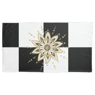 Mandala preta & branca do ouro moderno