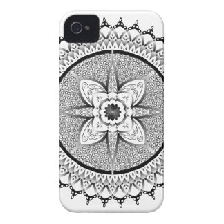 Mandala preto e branco capinha iPhone 4