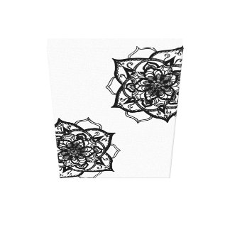 Mandala preto e branco projeto inspirado