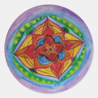 Mandala que tira a etiqueta redonda clássica,
