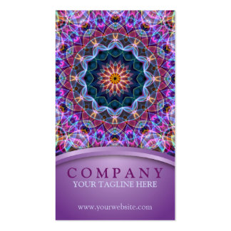 Mandala roxa de Lotus Cartão De Visita