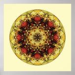 Mandala sagrado 6 da geometria poster