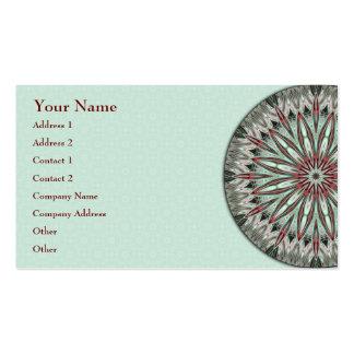Mandala simples da beleza - cartão de visita
