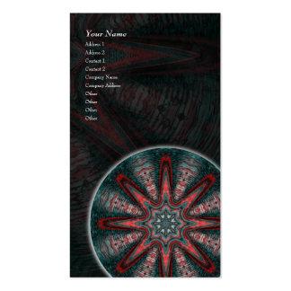 Mandala subtil da paixão • Cartão de visita vertic