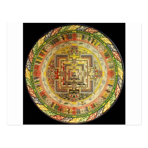 MANDALA TIBETANA ESOTÉRICO COLORIDA CARTOES POSTAIS