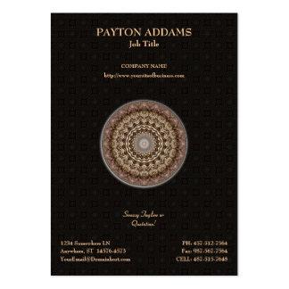 Mandala tingida chá • Cartão de visita vertical
