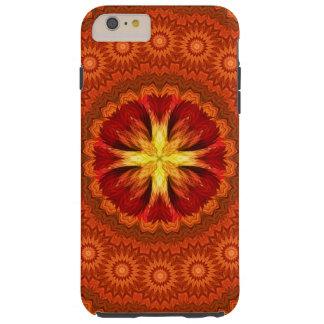 Mandala transversal do fogo capa tough para iPhone 6 plus