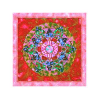 Mandala vermelha do paraíso impressão em tela