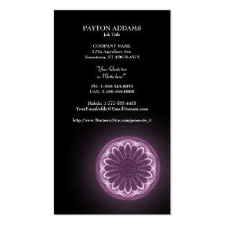 Mandala violeta das pétalas - cartão de visita ver