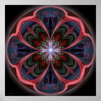 Mandala vívida das pétalas - impressão